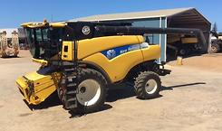 New Holland CR9080 and MacDon D65
